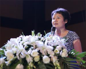 中国工程机械工业协会副秘书长尹晓荔致辞