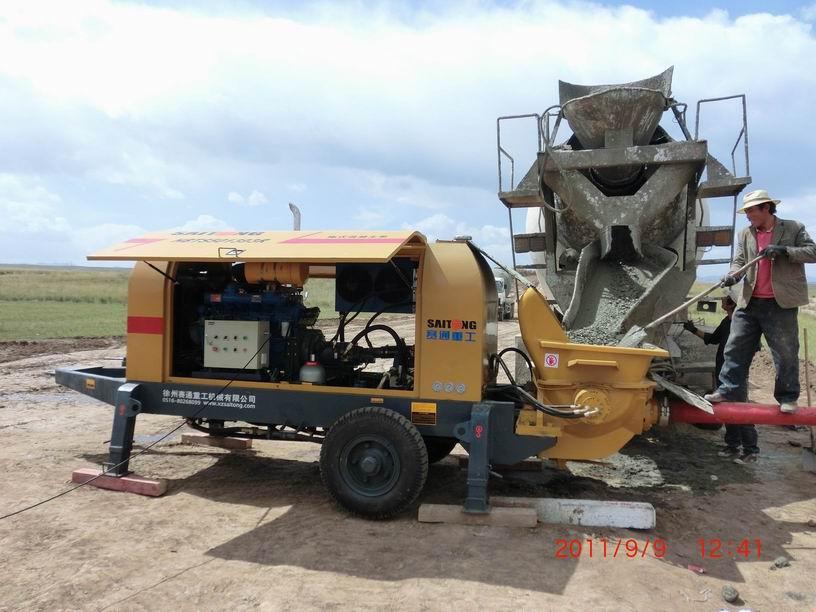 小型民用柴油机泵施工现场
