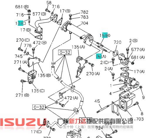 egr阀钢管螺丝_配件查询_广州市天河区新力达汽配供应图片