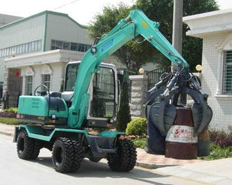Five-foot steel scrap hooper