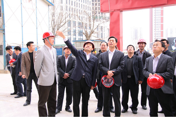 Leaders from Yantai Laishan District Government inspect Tianrun Mansion project