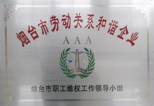 烟台市劳动关系合谐企业AAA-2006