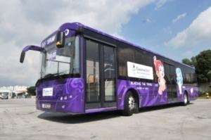 12米混合动力城市公交车