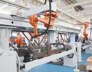 叉车门架机器人焊接系统