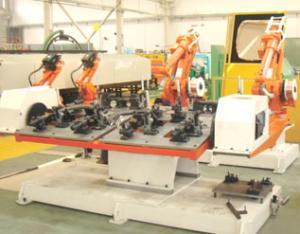 三角臂总成弧焊机器人工作站