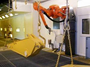 斗杆喷涂机器人