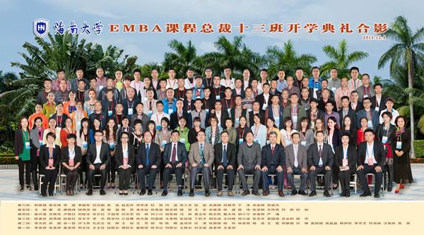 海南大学EMBA课程总裁十三班合影