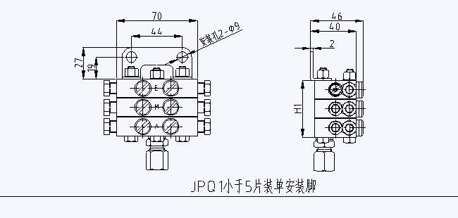 jpq1(2)片式递进式分配阀图片